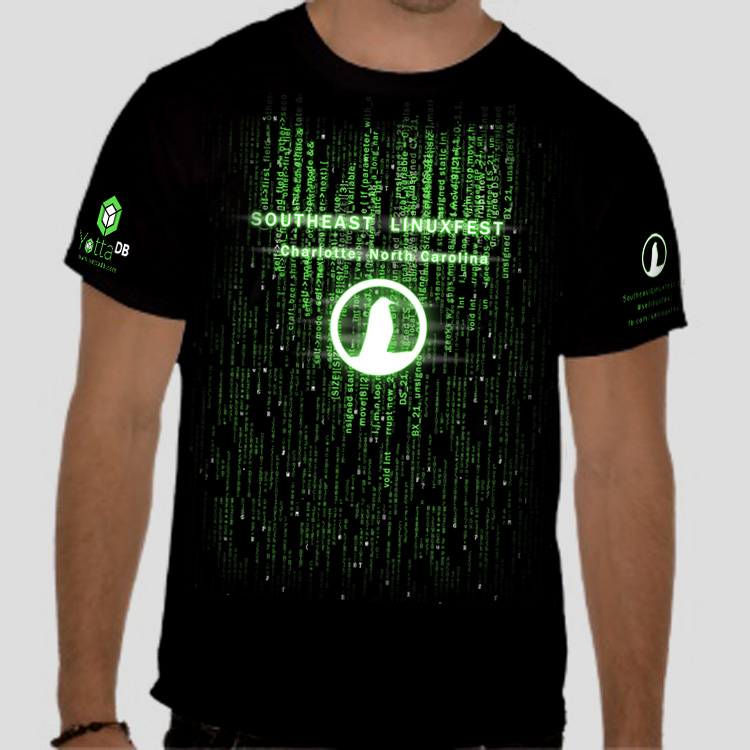 Registration Open, Schedule Released, Matrix Themed T-Shirt Art, New